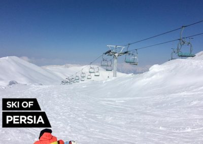 The longest chairlift of Tochal ski resort in Iran