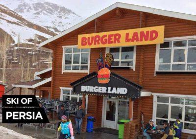 Fast food at the snow front of Darbandsar ski resort