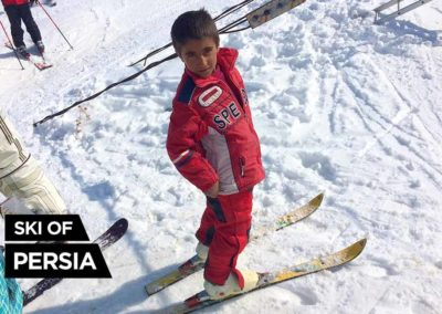 A kid from a village skiing in Khoshakoo ski resort