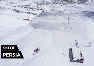 Aerial shoot of Darbandsar ski resort