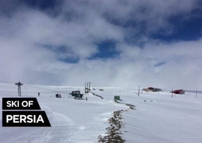 General view of Sahand ski resort in Iran