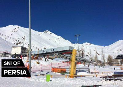 Snow front of Darbandsar ski resort