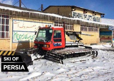 The old snow groomer of Chelgerd ski resort