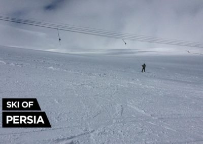 Sahand ski resort in Iran