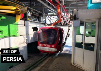 First station of the gondola at Tochal ski resort in Iran