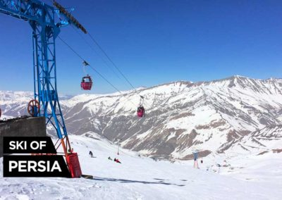 Summit of Dizin ski resort in Iran