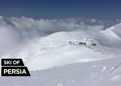 The last station of the gondola at Tochal ski resort