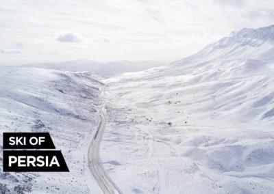 Vue aérienne des montagnes autour de Kakan en Iran