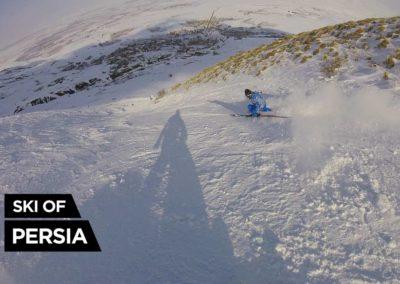 Skieur piste rouge