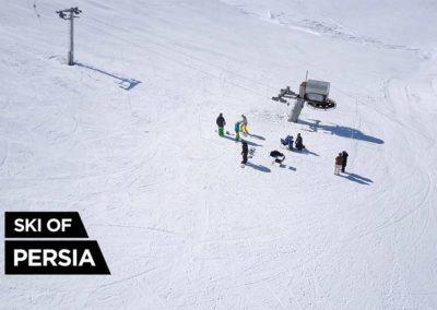 Skieurs et snowboardeurs à Fereydunshahr en Iran