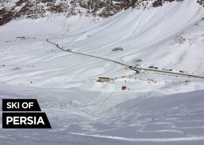 Vue de la station de Fereydunshahr depuis le sommet du téléski