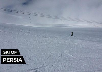 Tire-fesse de la station de ski de Sahand en Iran
