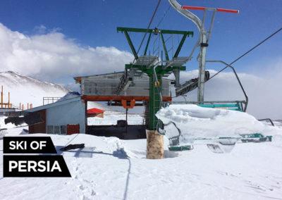 Cumul de neige sur le télésiège d'Alvares