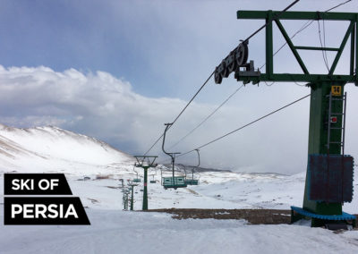 Vue depuis le haut du télésiège de la station de ski d'Alvares