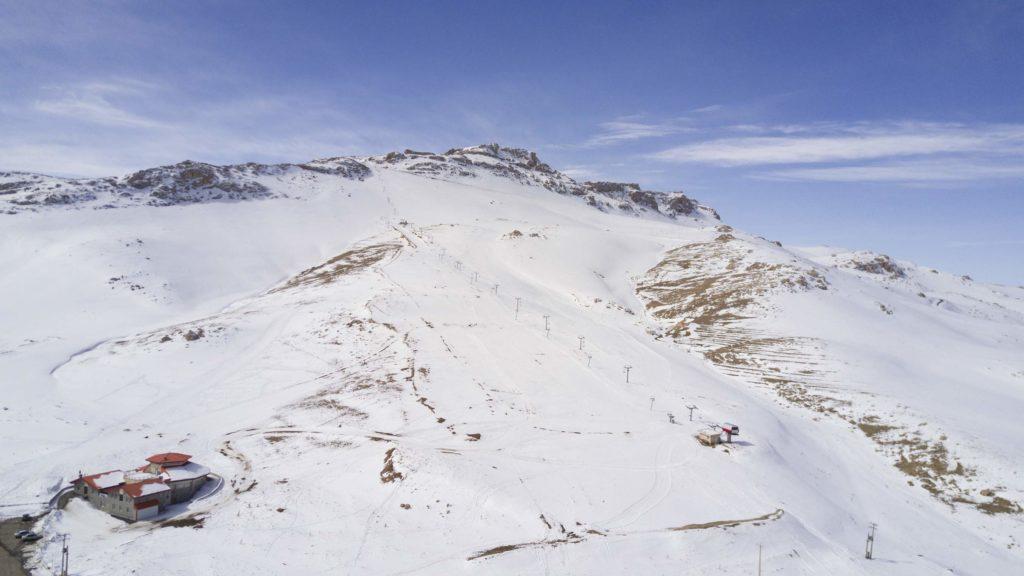 Bijar ski resort in Iran