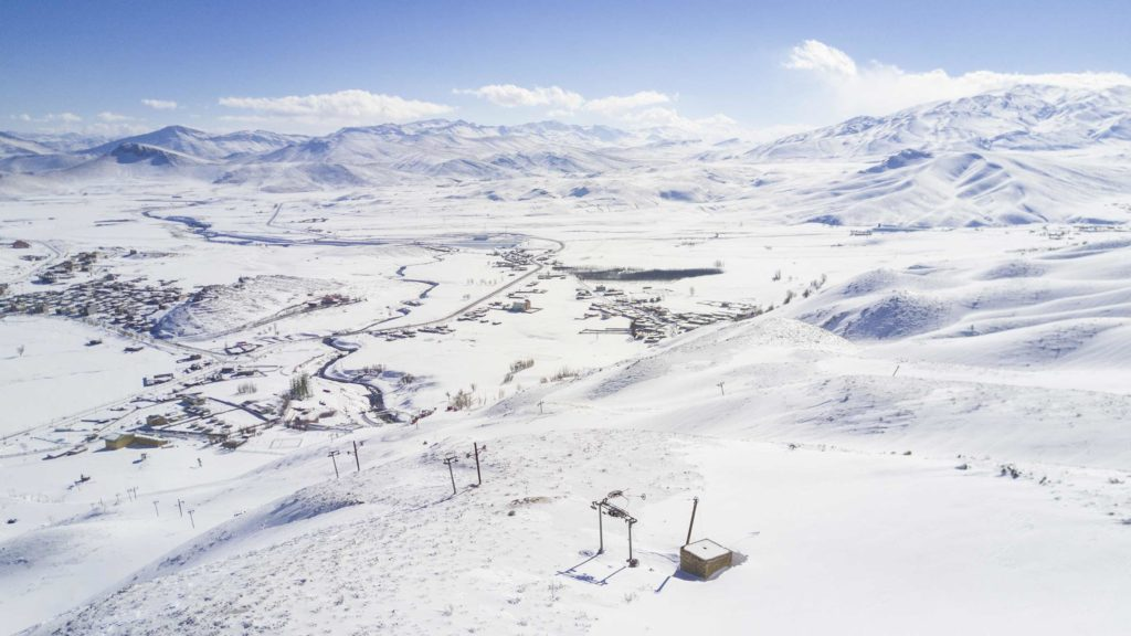Chelgerd ski resort in Iran