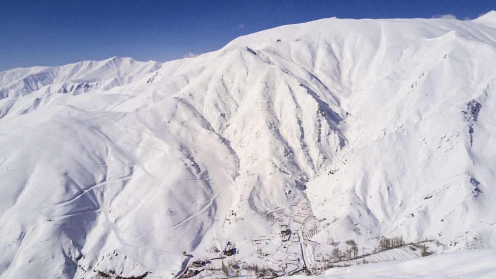 Darbandsar ski resort in Iran
