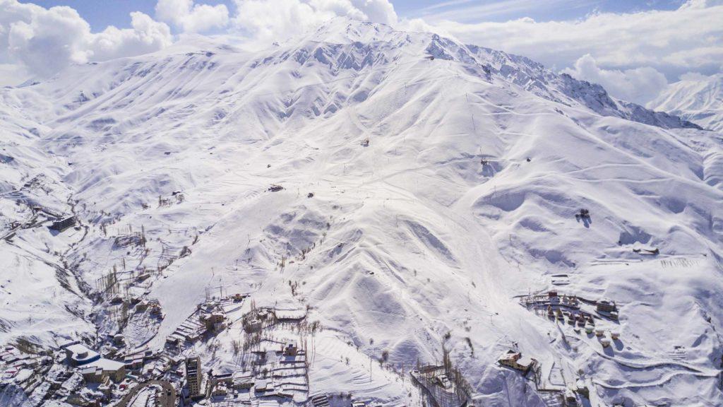 Shemshak ski resort in Iran