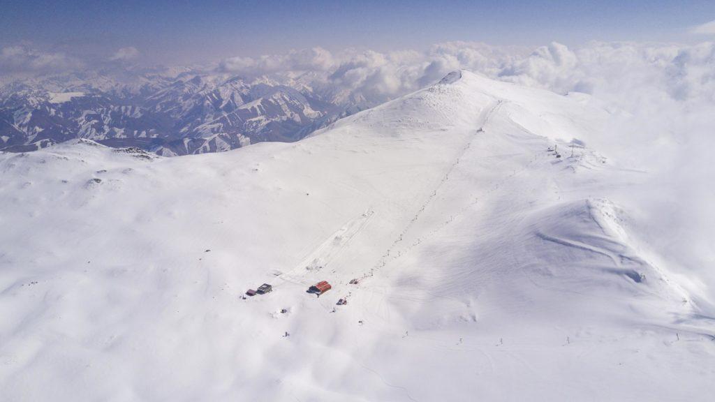 Station de ski de Tochal située au dessus de Téhéran en Iran