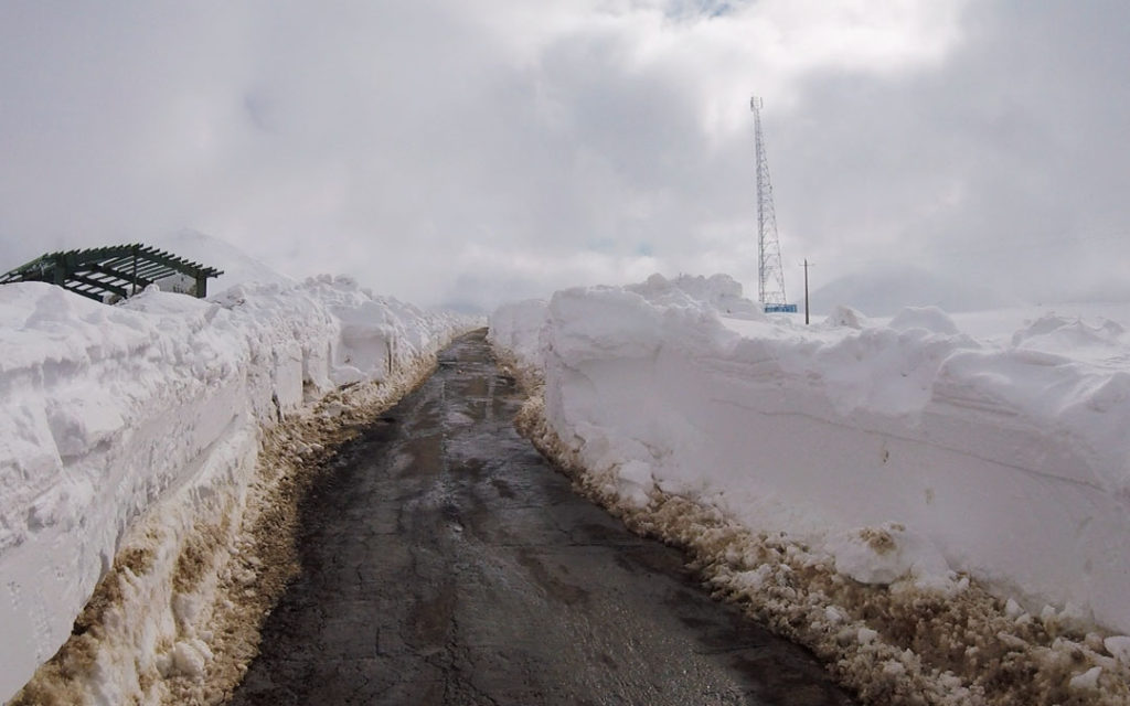 Road going to sahand ski resort in Iran