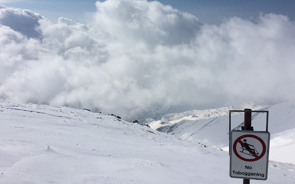 No tobogganing from the summit of Tochal