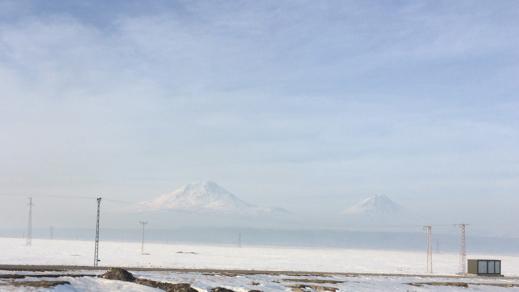 Mont Ararat from Bazagard border