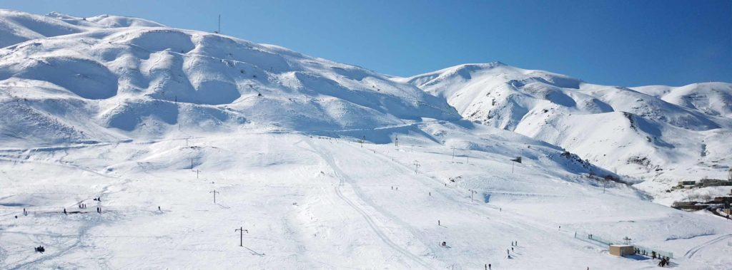 Khoshakoo ski resort in Iran