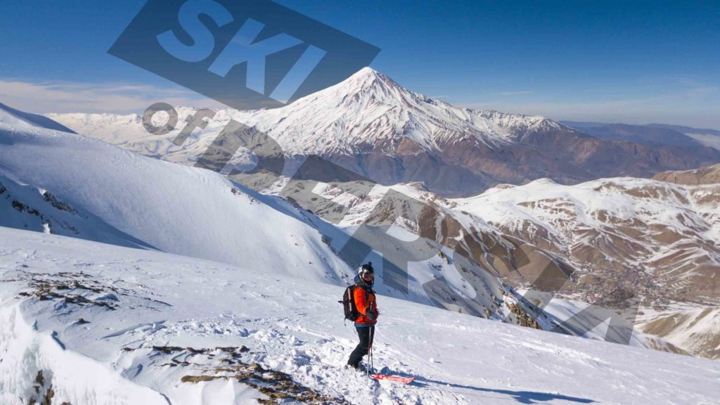 Ski touring around Damavand area